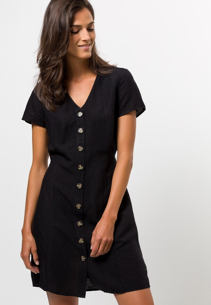 zero - Shirt dress - black