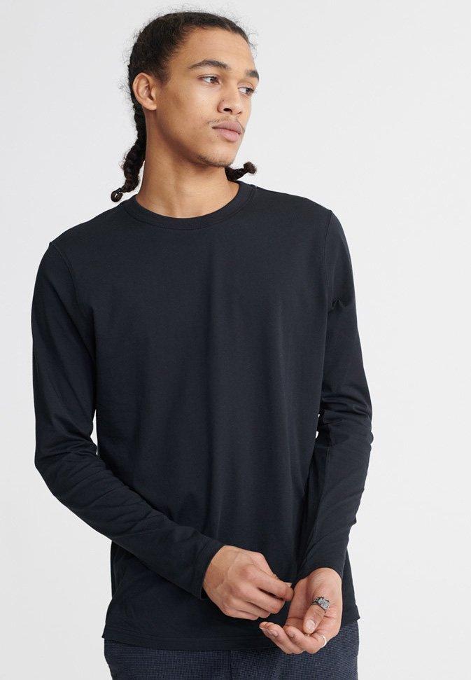 Superdry - LONG SLEEVED - Long sleeved top - black