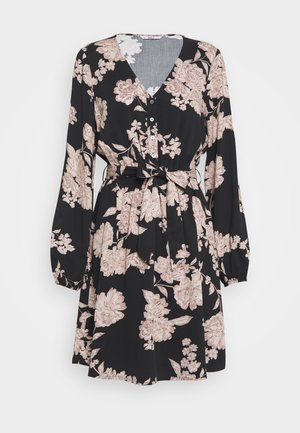 ONLALMA LIFE DRESS - Kjole - black/vintage flower
