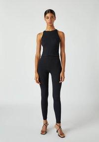 PULL&BEAR - Leggings - Trousers - black - 1