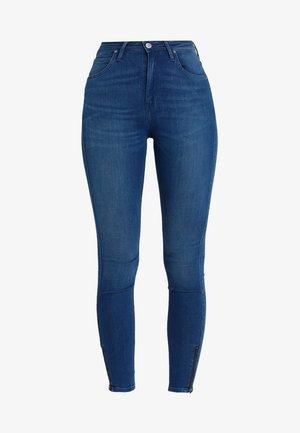 SCARLETT HIGH ZIP - Jeans Skinny Fit - blue denim