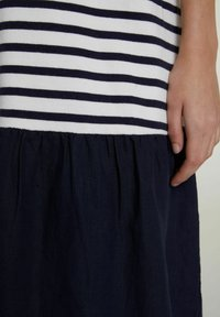 Oui - Day dress - white blue - 4