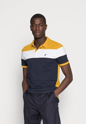 Polo shirt - dark blue/mustard