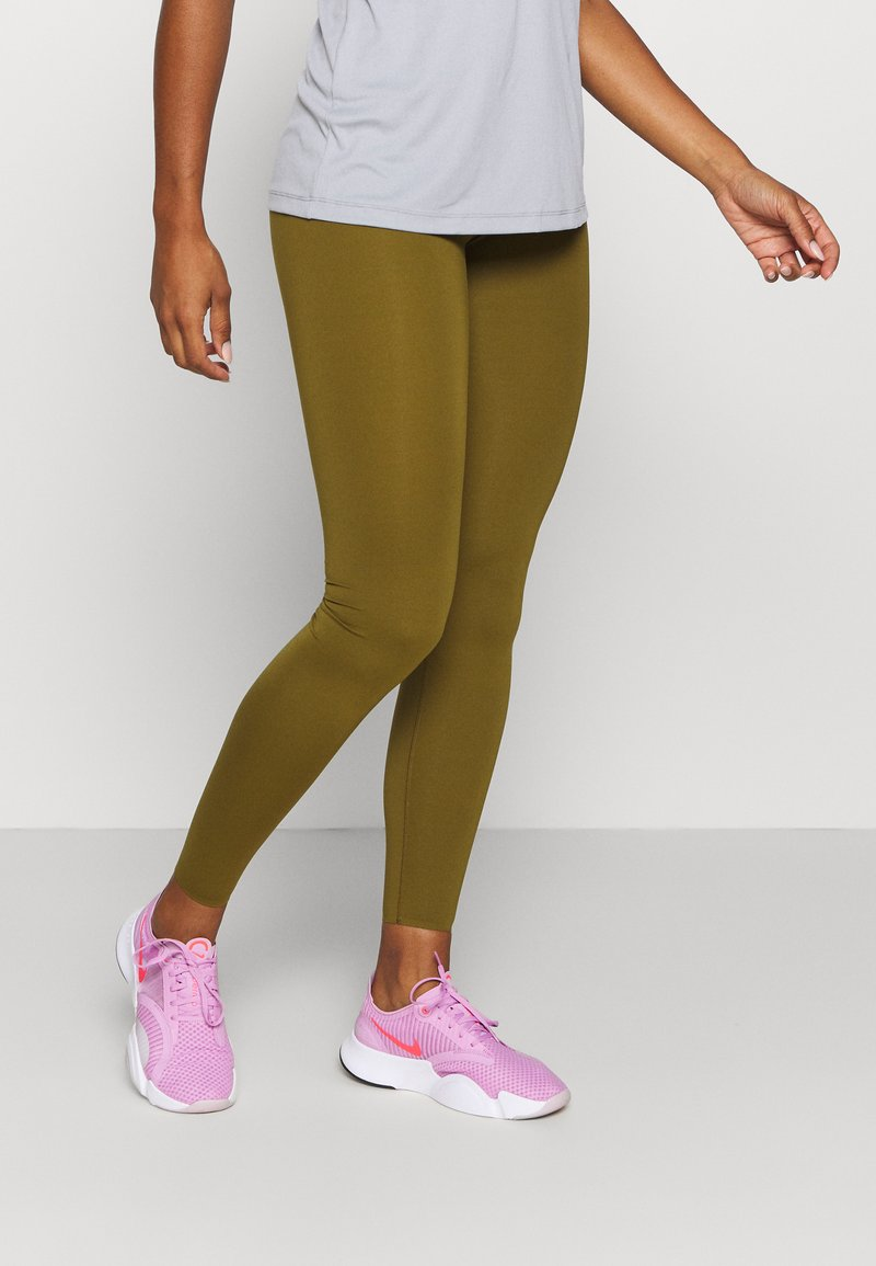 Nike Performance - ONE LUXE - Leggings - olive flak/clear