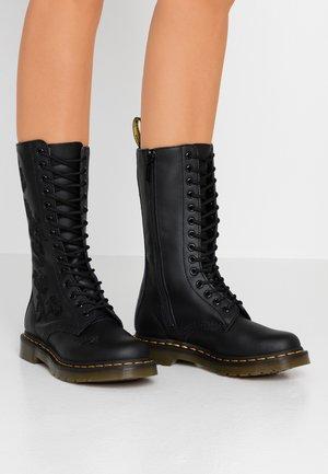 1914 VONDA MONO - Stivali con i lacci - black