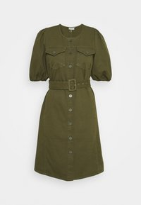 DILETTO DRESS - Denim dress - dark olive