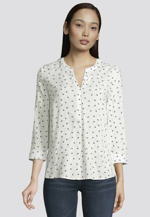 Tunic - offwhite floral dot design