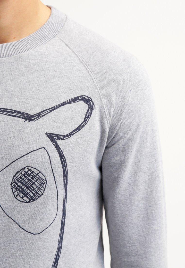 Kaikki Vuodenajat Saatavilla Miesten vaatteet Sarja dfKJIUp97454sfGHYHD Knowledge Cotton Apparel BIG OWL Collegepaita grey melange