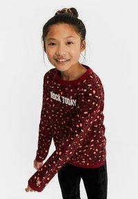WE Fashion - MET LUIPAARDPRINT - Sweatshirt - pink - 0