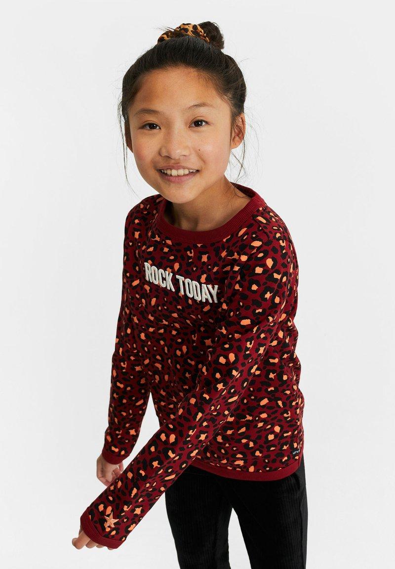 WE Fashion - MET LUIPAARDPRINT - Sweatshirt - pink