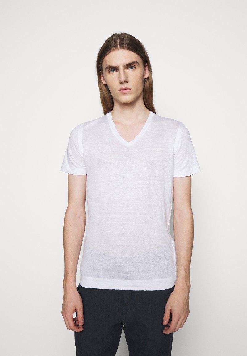120% Lino - SHORT SLEEVE - Jednoduché triko - white