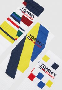 Tommy Jeans - UNISEX GIFTBOX 3 PACK - Socks - white - 2