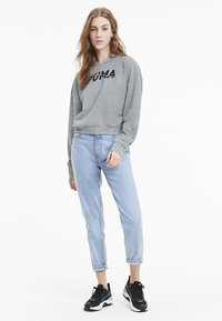 Puma - Felpa con cappuccio - light gray heather - 1