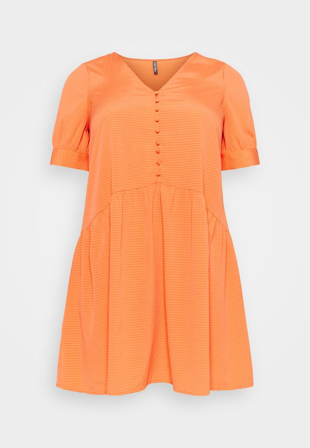 PCGENEVA DRESS CURVE - Sukienka letnia - nectarine