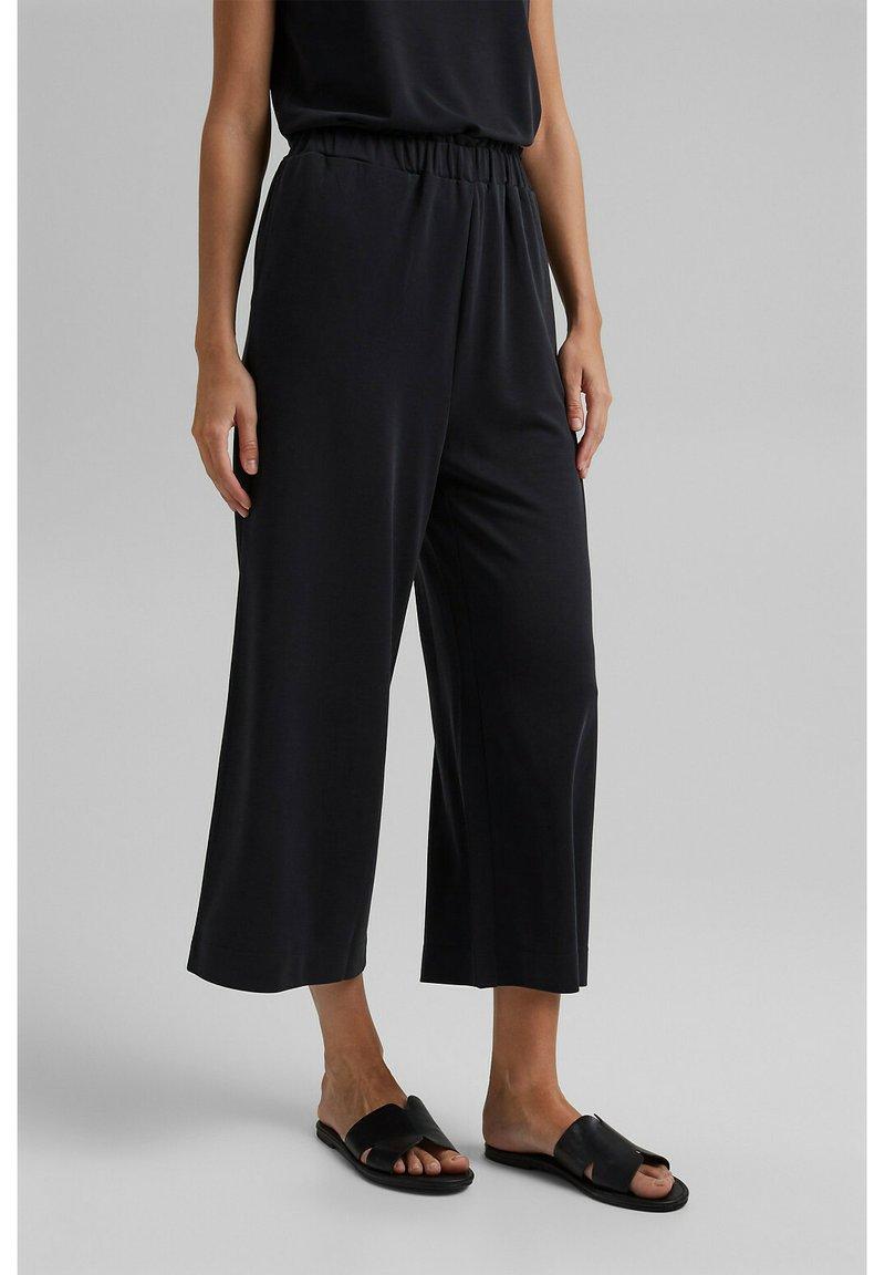 Esprit - CULOTTE - Trousers - black