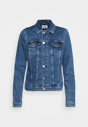 VIVIANNE SLIM DENIM TRUCKER NMBS - Veste en jean - blue denim