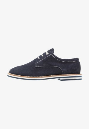 LEATHER - Lace-ups - dark blue