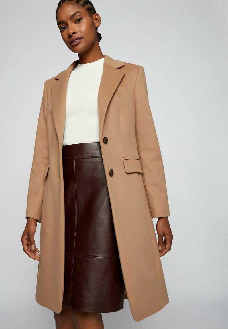 BOSS - CURIA - Classic coat - light brown