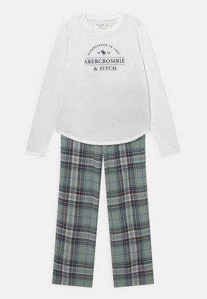 SLEEP PANTS  - Pyjama set - white/green