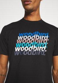 Woodbird - CREZ SHADOW TEE - Print T-shirt - black - 5
