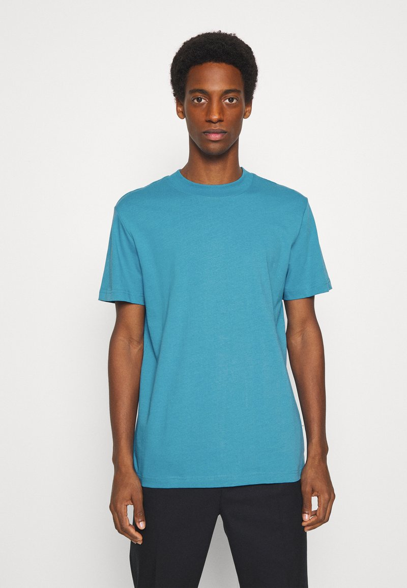 Selected Homme - SLHRELAXCOLMAN O NECK TEE - Basic T-shirt - bluejay