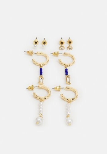 MIXED HOOP AND STUD EARRING SET - Earrings - gold-coloured