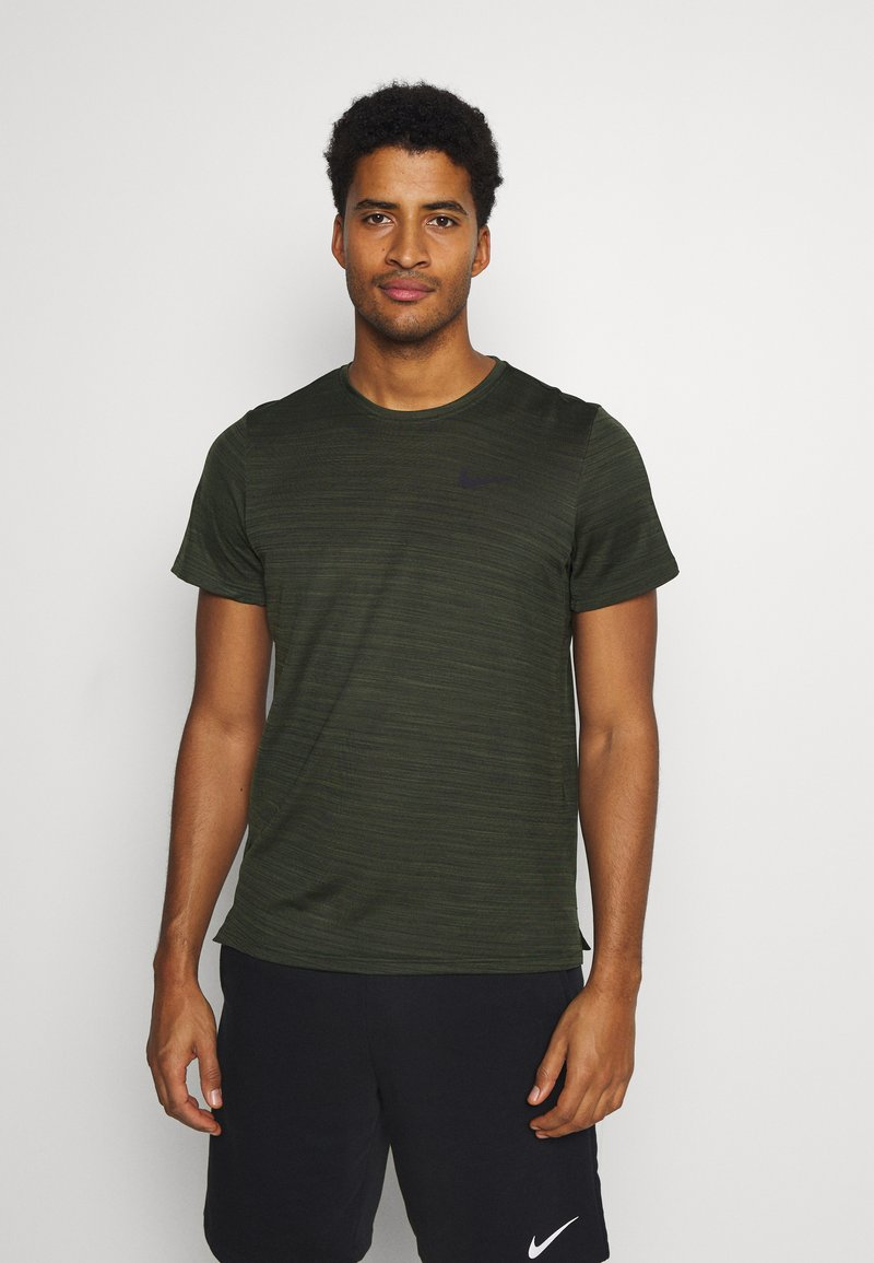 Nike Performance - DRY SUPERSET - T-shirt - bas - sequoia/black