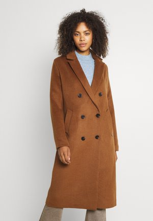 DOUBLE BREASTED BLEND CLASSIC COAT - Classic coat - tabacco