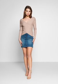 Nly by Nelly - CRISS CROSS SHOULDER - Long sleeved top - mauve - 1