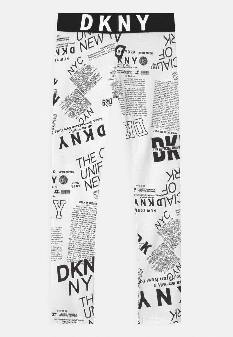 DKNY - Leggings - Trousers - white/black