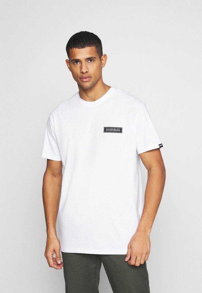 Napapijri The Tribe - PATCH UNISEX - Print T-shirt - bright white
