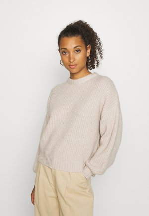 Strickpullover - light tan