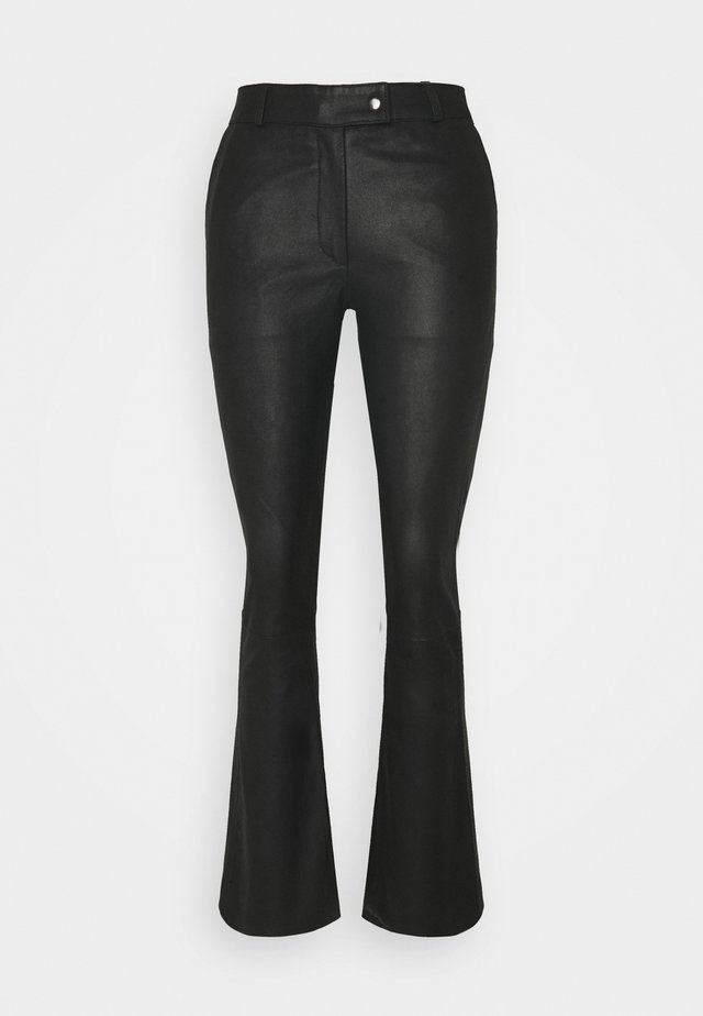 CHINO - Pantalón de cuero - black