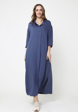CLARICE - Maxi dress - blau/weiß