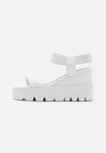 LAURY - High heeled sandals - white