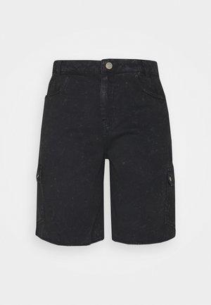 NMLUCKY LONGBOARDER - Shorts di jeans - black