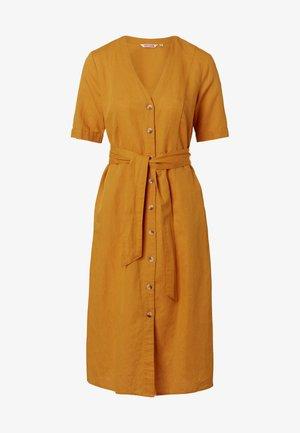 Shirt dress - mustard yellow