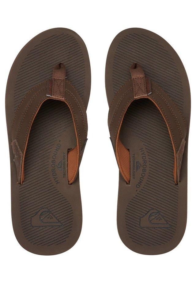 LEDERSANDALEN FÜR MÄNNER AQYL100947 - T-bar sandals - brown