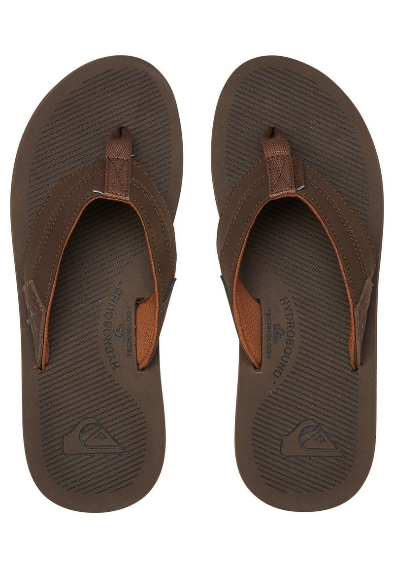 Quiksilver - LEDERSANDALEN FÜR MÄNNER AQYL100947 - T-bar sandals - brown