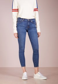 7 for all mankind - CROP - Jeans Skinny Fit - bair vintage dusk - 0