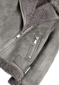 Next - Faux leather jacket - gray