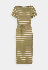 edc by Esprit - CRISPY DRESS - Jersey dress - light khaki - 0