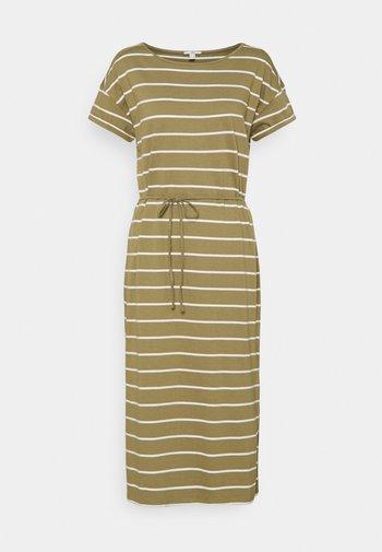 CRISPY DRESS - Jersey dress - light khaki
