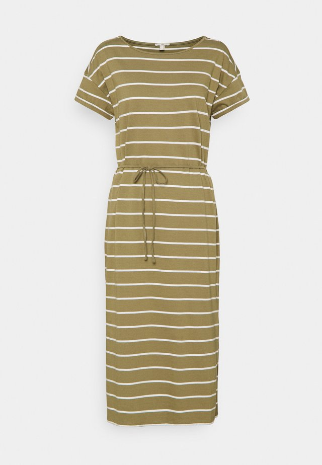 CRISPY DRESS - Jerseyjurk - light khaki