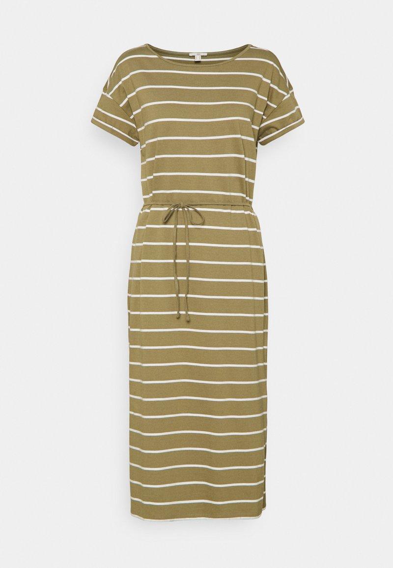 edc by Esprit - CRISPY DRESS - Jersey dress - light khaki