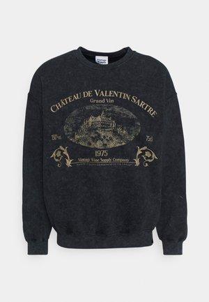 WINE COMPANYGRAPHIC CREW - Sweatshirt - black