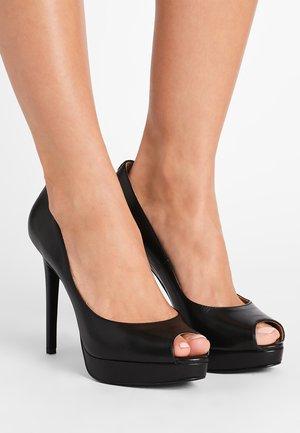 ERIKA PLATFORM - Høye hæler med åpen front - black