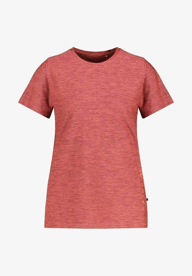 """""""KAJOO"""" - Print T-shirt - dunkelbraun"""
