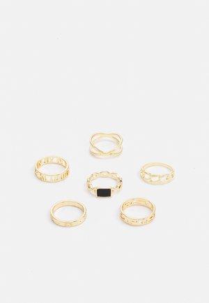 PCPRIMROSE CURVE  6 PACK - Ringar - gold-coloured