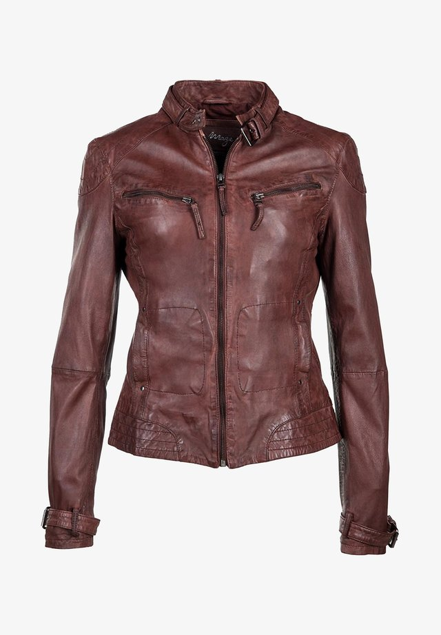 RYANA - Leather jacket - oxblood